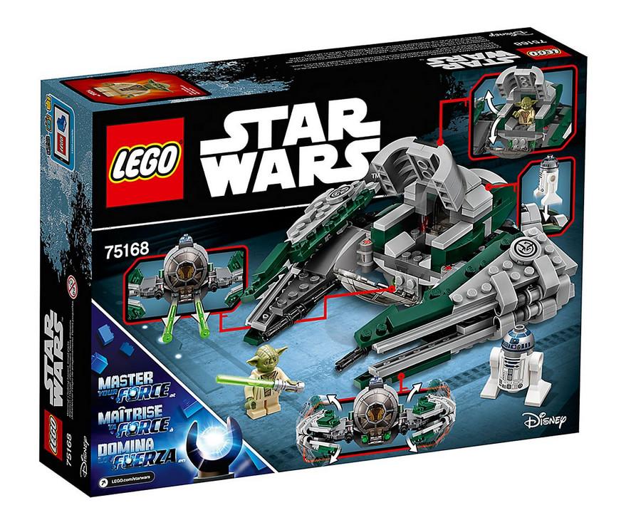 photo montrant le set lego star wars yoda's jedi starfighter 75168