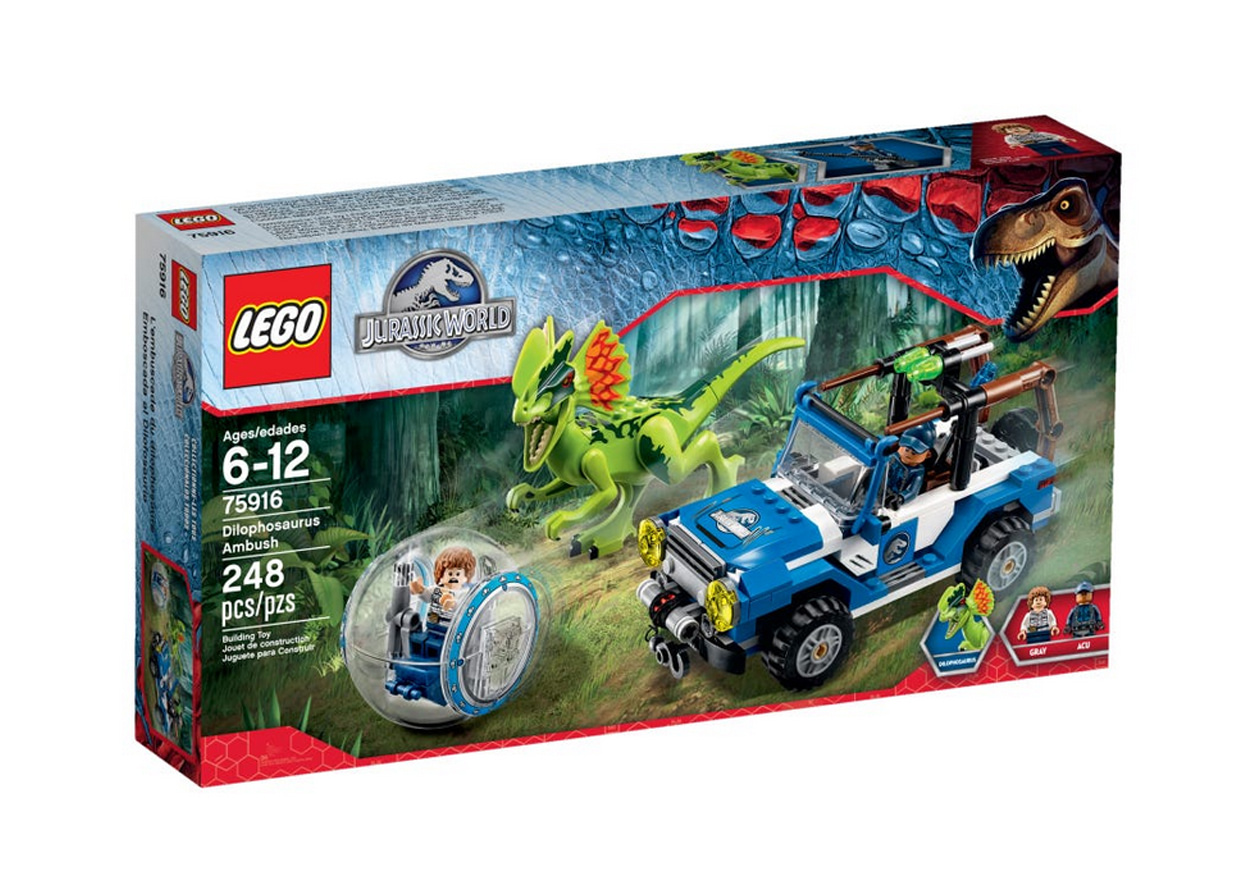 pHOTO DU SET LEGO JURASSIC WORLD L'embuscade du Dilophosaure