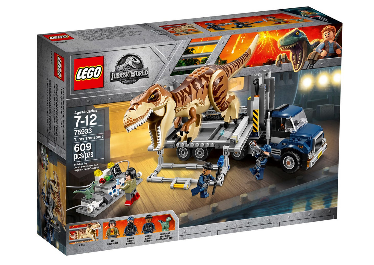 Photo du set Lego jurassic World, le ttransport du t rex